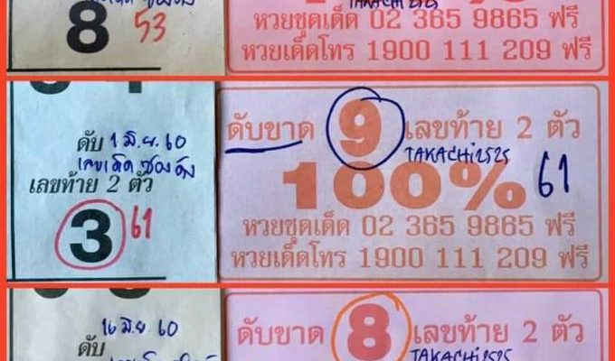 Thai Lottery live for 1-7-2017, Thai Lottery Best Pairs