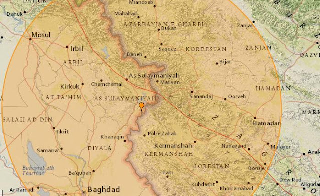 7.2 magnitude earthquake strikes Iran-Iraq border region