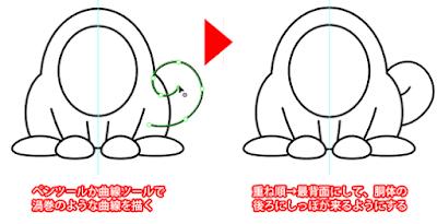 尻尾の描き方