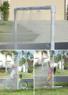 parque de agua DIY para jardin con tubos de PVC reciclados