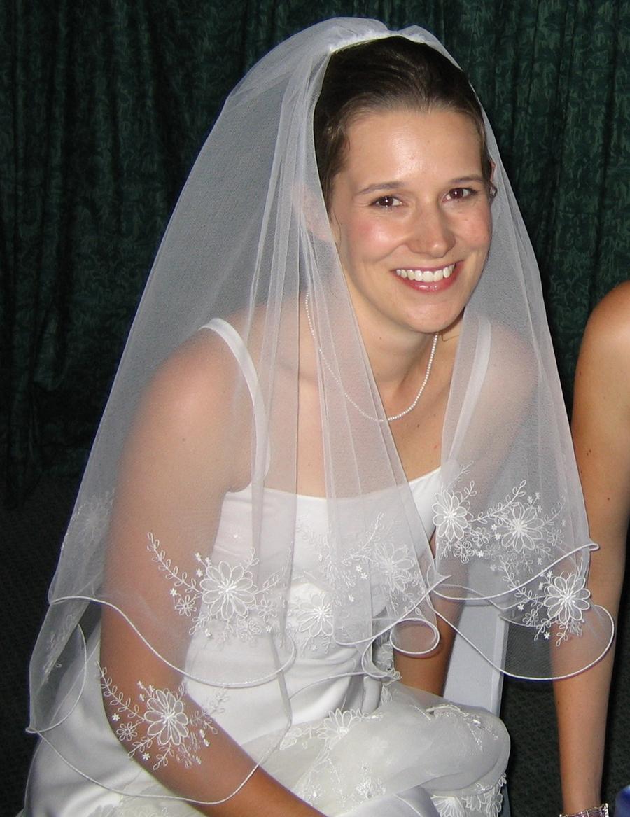 Lyns Needlecase Embroidered Wedding Veil