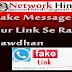 """Fake Messages Our Fake Website Url """"Link"""" Se Rahe Sawdhan Aapka Data Ho Sakata He Hack"""