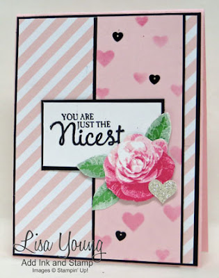 Stampiin' Up! Picture Perfect stamp set. Handmade card by Lisa Young, Add Ink and Stamp