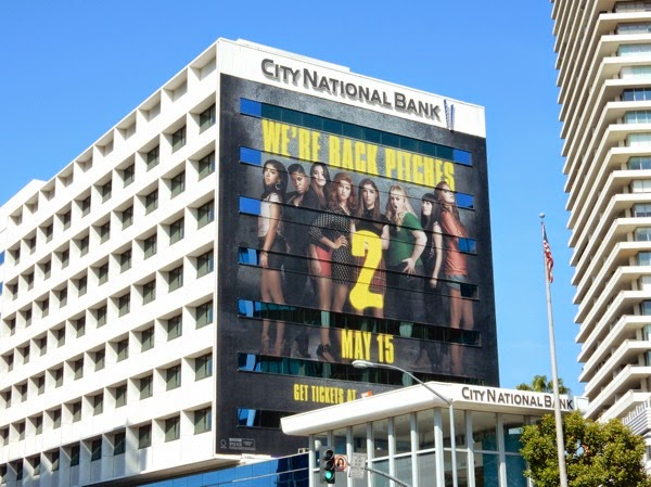 Giant Pitch Perfect 2 film billboard