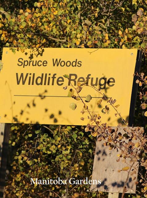 Spruce woods wildlife refuge sign