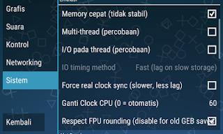 Cara Settingan Game PPSSPP Lengkap Agar Tidak Lag/Lemot