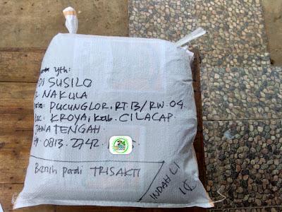 Benih pesanan EDI SUSILO Cilacap, Jateng.   (Sesudah Packing)