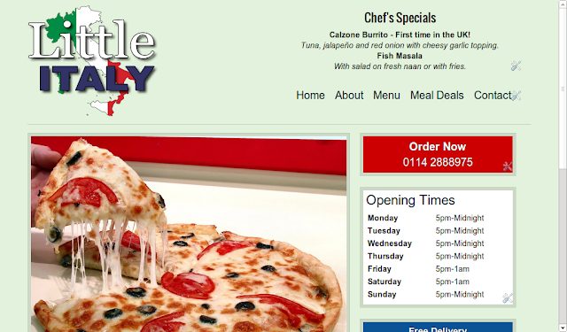 Little Italy Pizza Website Design Amanda Kennedy