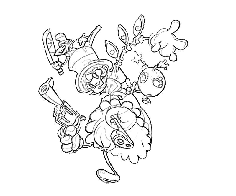 Skull girls characters coloring pages ~ Skullgirls Peacock Profil | Mario