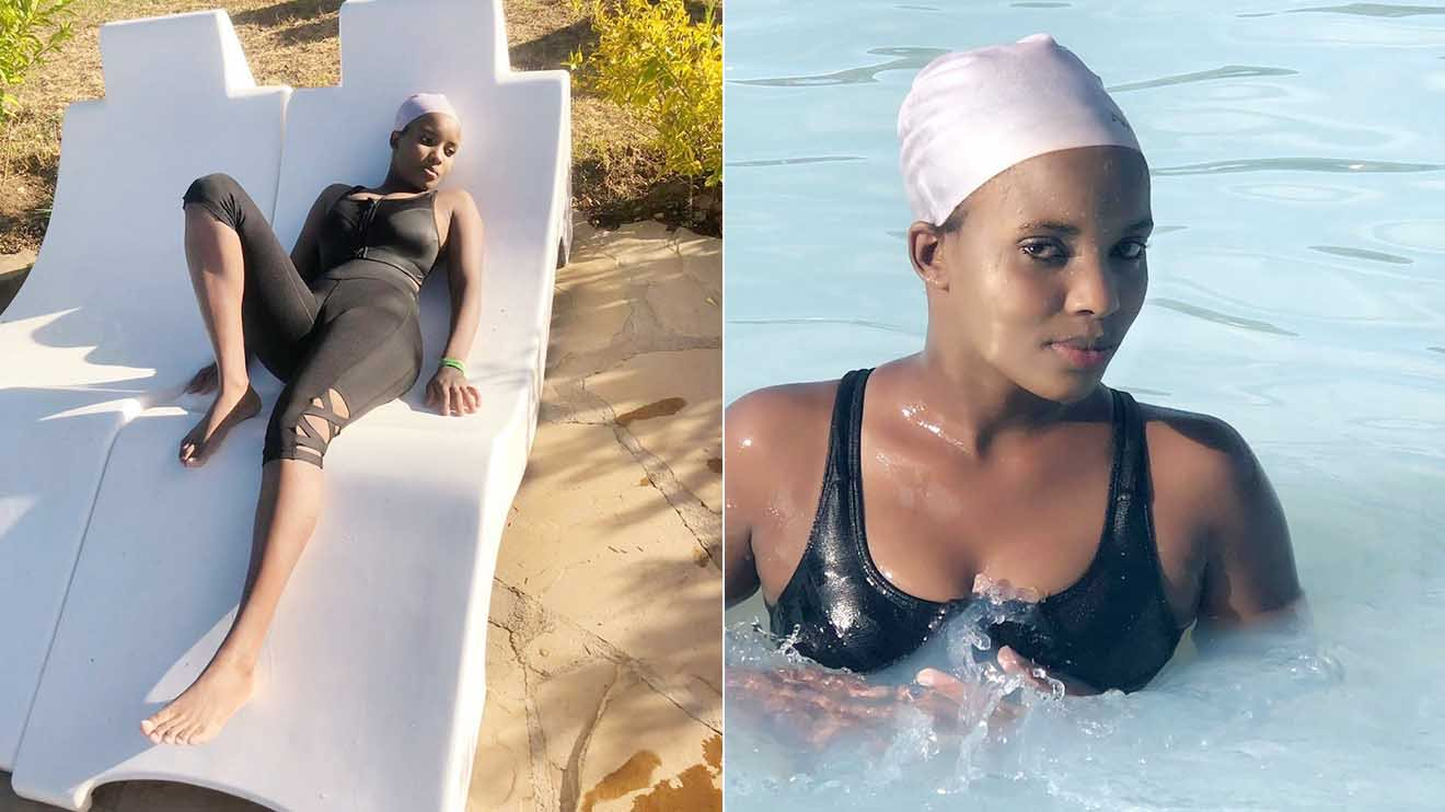 Pesh 2 1 - Sexy AKORINO model PESH forced to apologize after flaunting her curves in a swimsuit (LOOK)