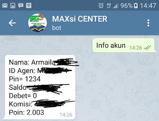 Lupa PIN Transaksi Pulsa Trx ku Maxsi Reload