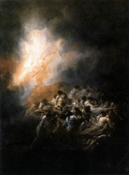 Fire at Night by Francisco de Goya y Lucientes, Macabre Art, Macabre Paintings, Horror Paintings, Freak Art, Freak Paintings, Horror Picture, Terror Pictures