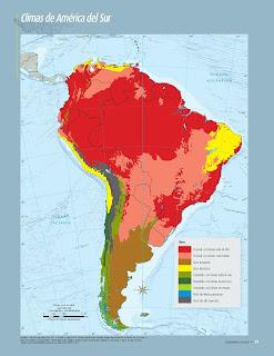 Apoyo Primaria Atlas de Geografía del Mundo 5to. Grado Capítulo 2 Lección 3 Climas de América del Sur