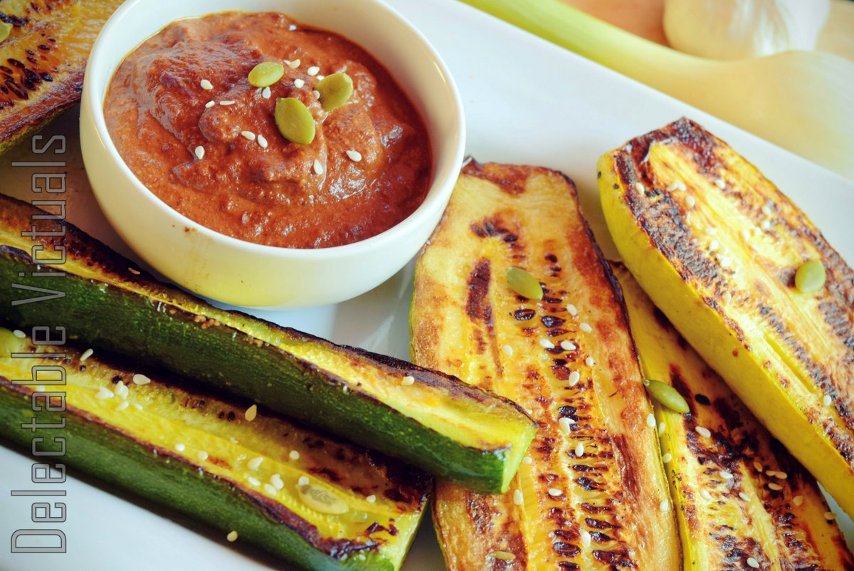Pipián Rojo with Charred Summer Squash and Zucchini mexican vegetarian home-garden vegetables