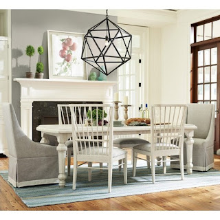 beautiful coastal style dining room