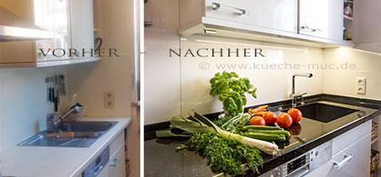 wer baut meine Küche um? Erneuert die Arbeitsplatten oder die Küchenrückwand? Wir renovieren Ihre Küche - in und um München