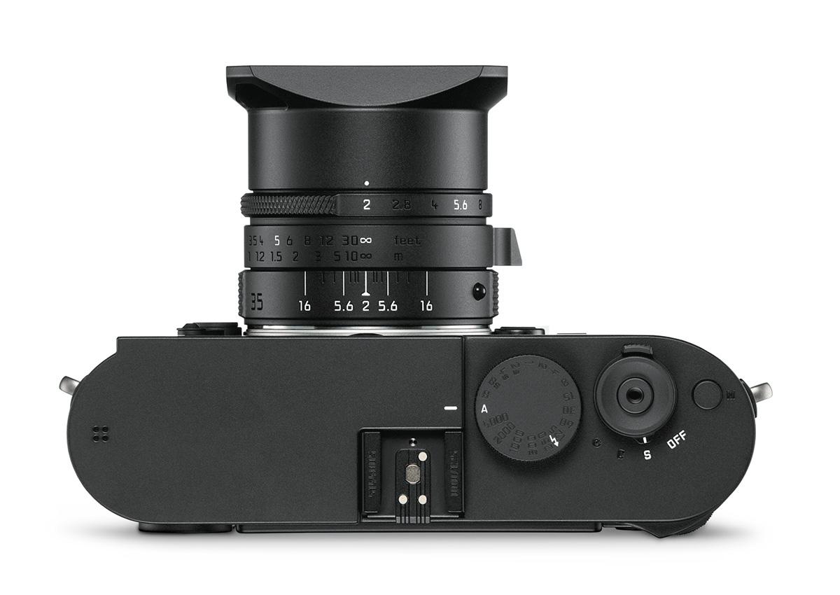 Leica M Monochrom (Typ 246) Stealth Edition - вид сверху
