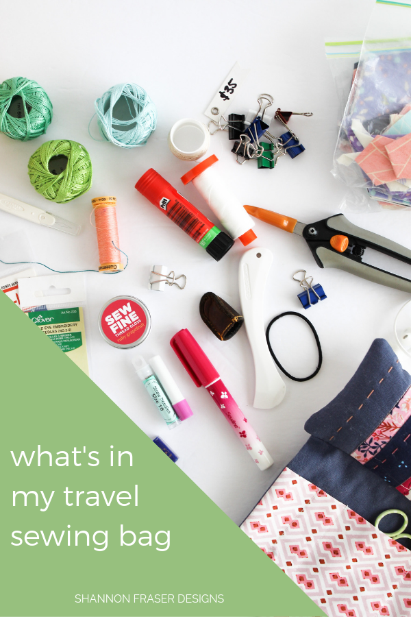 All the tools and notions | What's in my travel sewing bag | Shannon Fraser Designs
