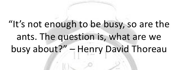 inspirational quote about being busy