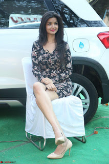 Kritika Telugu cinema Model in Short Flower Print Dress 033.JPG