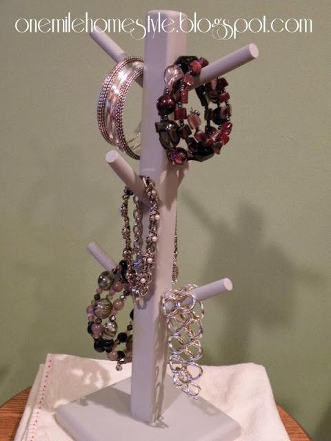 DIY Bracelet Tree from a mug tree