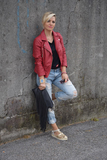 boyfriend jeans how to wear boyfriend jeans how to combine boyfriend jeans mariafelicia magno fashion blogger color block by felym fashion bloggers italy italian web influencer september outfits autumn outfit