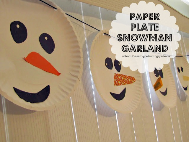 how to make a snowman out of paper plates