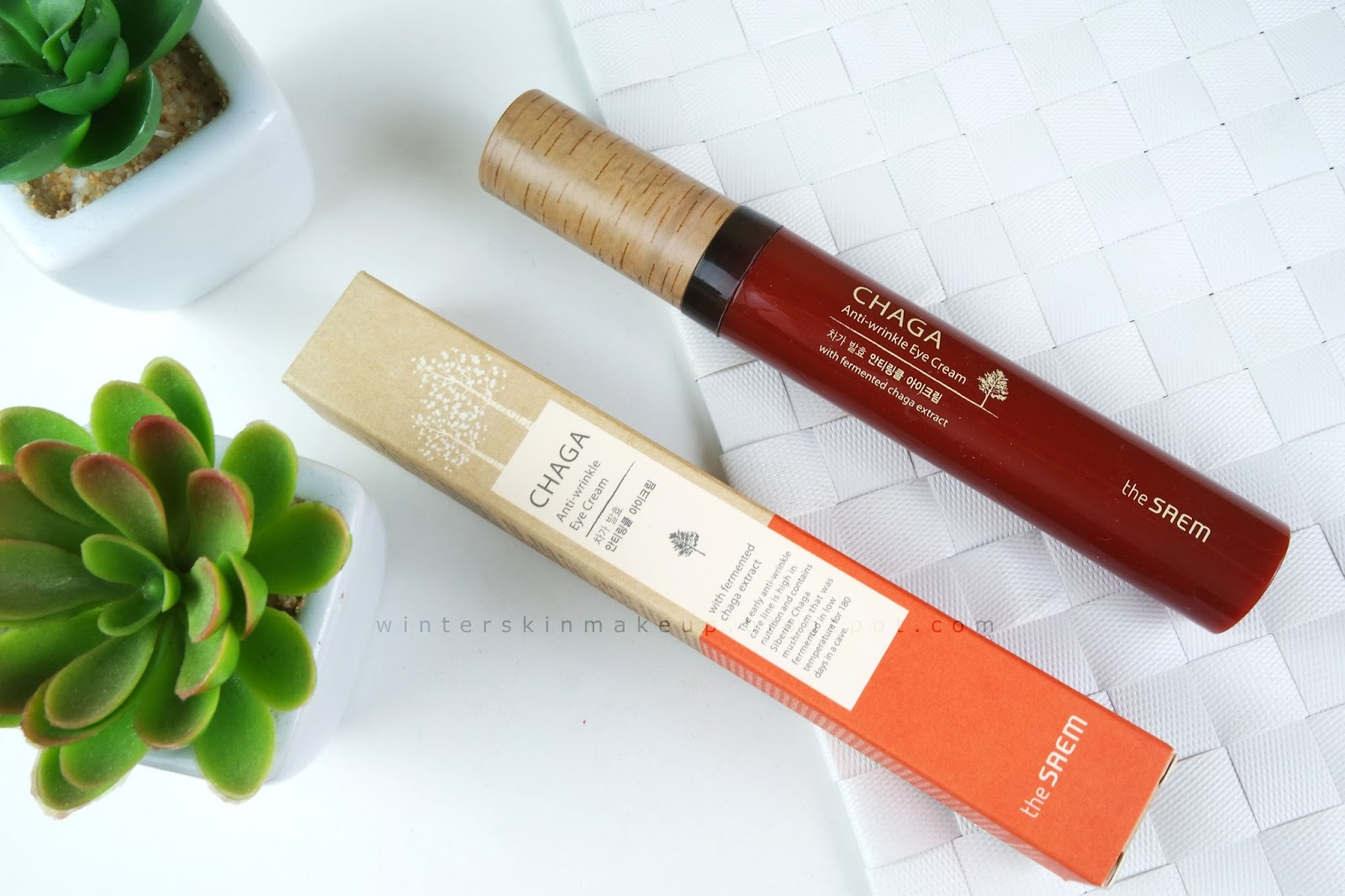 The Saem Chaga Anti-Wrinkle Eye Cream