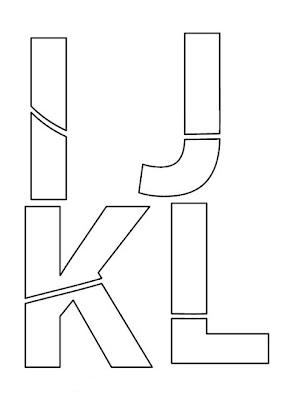 Moldes de Letras IJKL