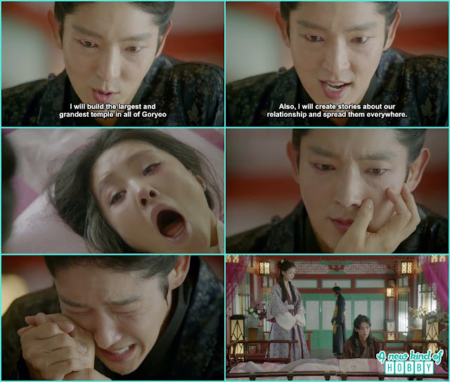 queen yoo touch wang so face where the scar is and died wang so cried a lot - Moon Lovers Scarlet Heart Ryeo - Episode 18 (Eng Sub)