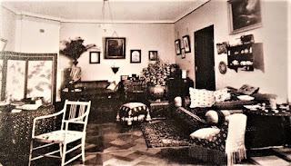 Salon w tahanieckim dworze - lata 90. XIX wieku