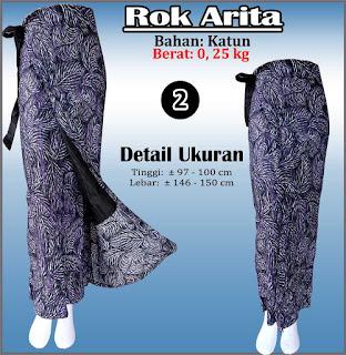 Rok batik lilit cantik modis bahan katun