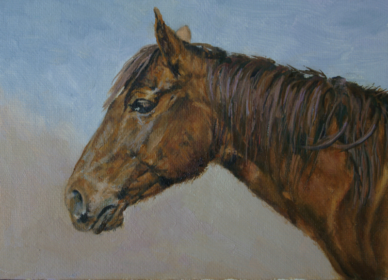 Paintings by Daniel Fishback: Realistic Painting - Horse ...