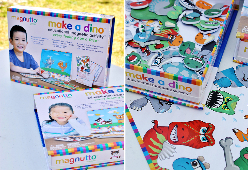 Magnutto educational magnetic playsets offer a visual way for children 3+ to express and identify emotions through colorful characters! #AD