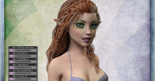 3d Models Art Zone - Mika 7 Morph Target Resource Kit for Genesis 3 Female