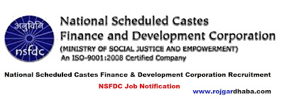 National Scheduled Castes Finance & Development Corporation Job, NSFDC Jobs.