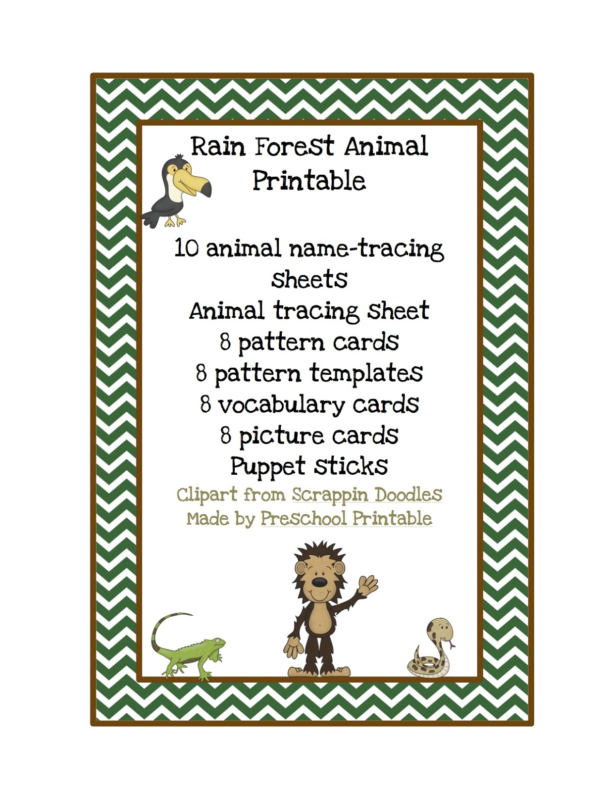 Forest Worksheet For Preschool