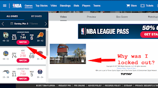 NBA League Pass-Technical Issue