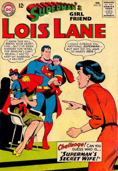Episode #379 Part III: Superman Family Comic Book Cover Dated February 1965: Superman's Girl Friend Lois Lane #55!