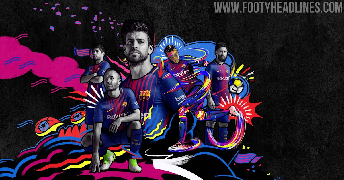 Inter Wallpaper Hd Barcelona 17 18 Home Kit Released Footy Headlines
