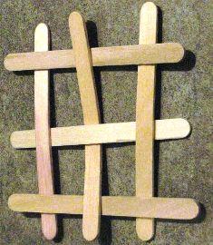 membuat bom stik es krim formasi segi 4