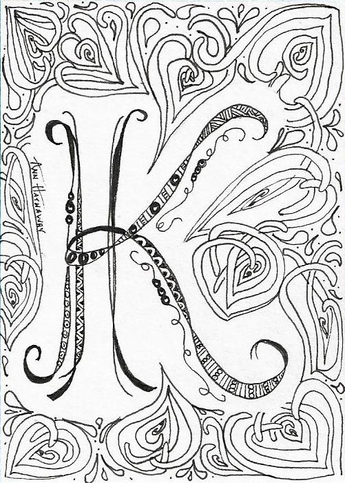Deep Magic Tangles: I ♥ Monograms