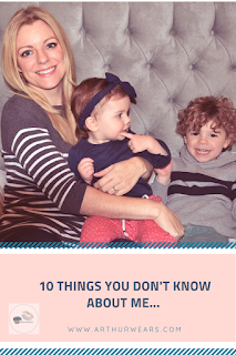 sarah Arthurwears blogger 10 things you dont know about me pin
