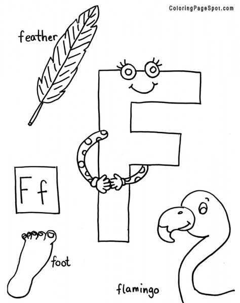 f letter coloring pages - photo #49