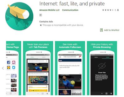 Amazon Internet Web Browser