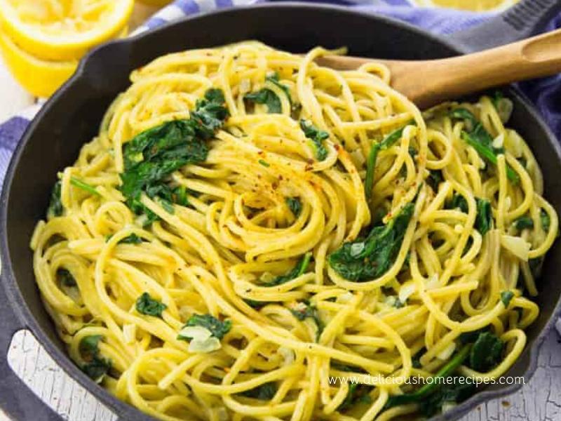 Lemon Spaghetti Spinach