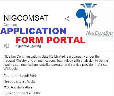 Nigeria Communication Satellite Recruitment 2018/2019 | (NIGCOMSAT) Job Update