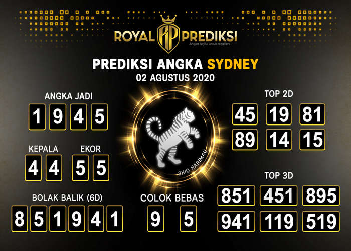 Kode syair Sydney Minggu 2 Agustus 2020 165