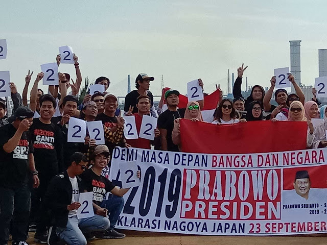 WNI di Jepang Deklarasi Dukung Prabowo-Sandi, Siap Menangkan Suara Nomor 2