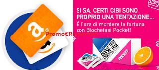 Logo Biochetasi Pocket : vinci gratis buoni Amazon e Iphone
